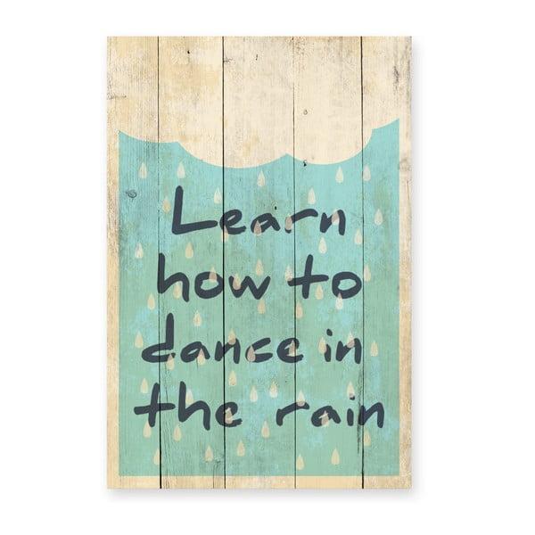 Tabliczka ścienna z drewna sosnowego Really Nice Things Learn
