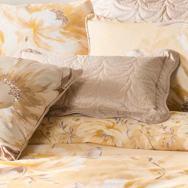 Povlak na polštář Flora Charlston Gold 30x50 cm