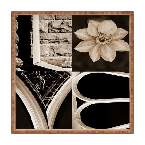 Tavă decorativă din lemn Love, 40x40cm