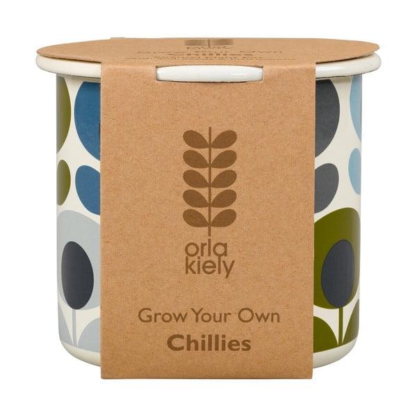 Květináč se semínky chilli papriček Orla Kiely Grow Your Own