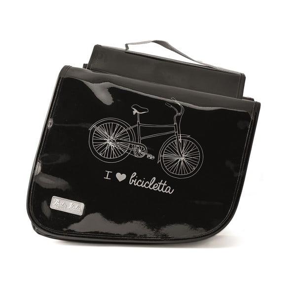 Dvojitá taška na kolo I ♥ Bicicleta, černá