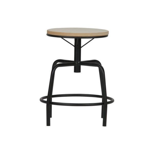 Černobílá kovová stolička De Eekhoorn