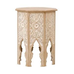 Odkládací stolek z masivního mangového dřeva Massive Home Sweet