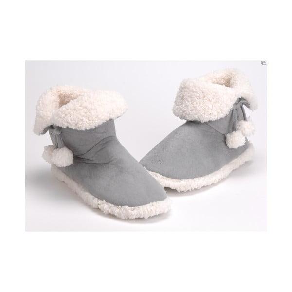 Papuče Pompons Grey, vel. 37/38