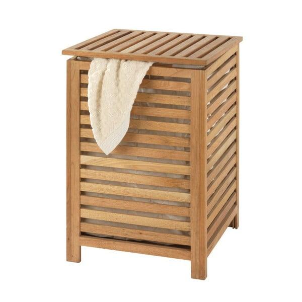 Kosz na pranie z drewna orzechowego Wenko Laundry Bin Norway, 65l