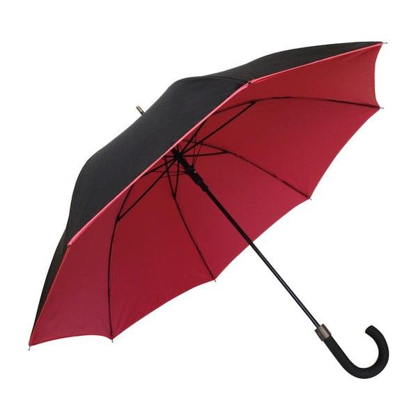 Susino Noir Rouge fekete-piros szélálló esernyő, ⌀ 104 cm - Ambiance