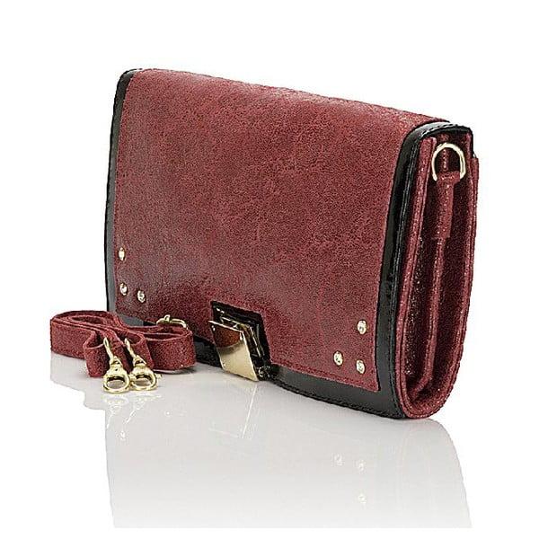 Kožená kabelka Giorgio Costa 15023 Bordo