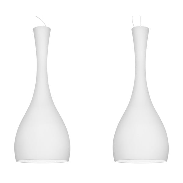 Dvojité světlo ITTEKI Elementary, matná opálová/bílá/bílá