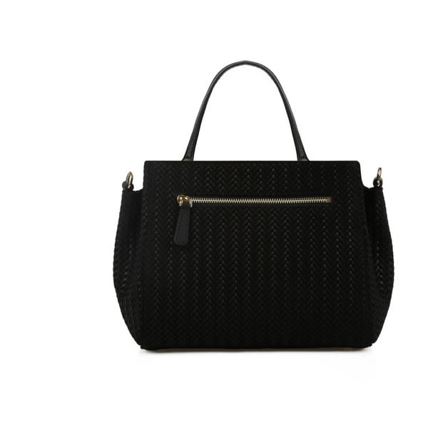 Černá kožená kabelka Beverly Hills Polo Club Dona