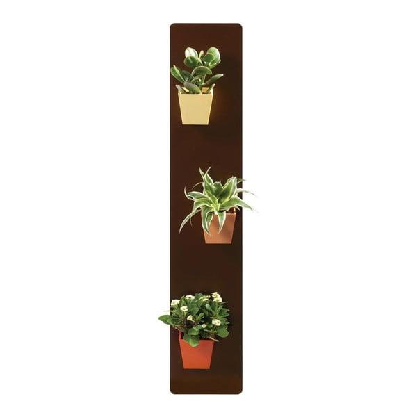 Podstavec pro magnetické květináče, hnědý, 14x70 cm