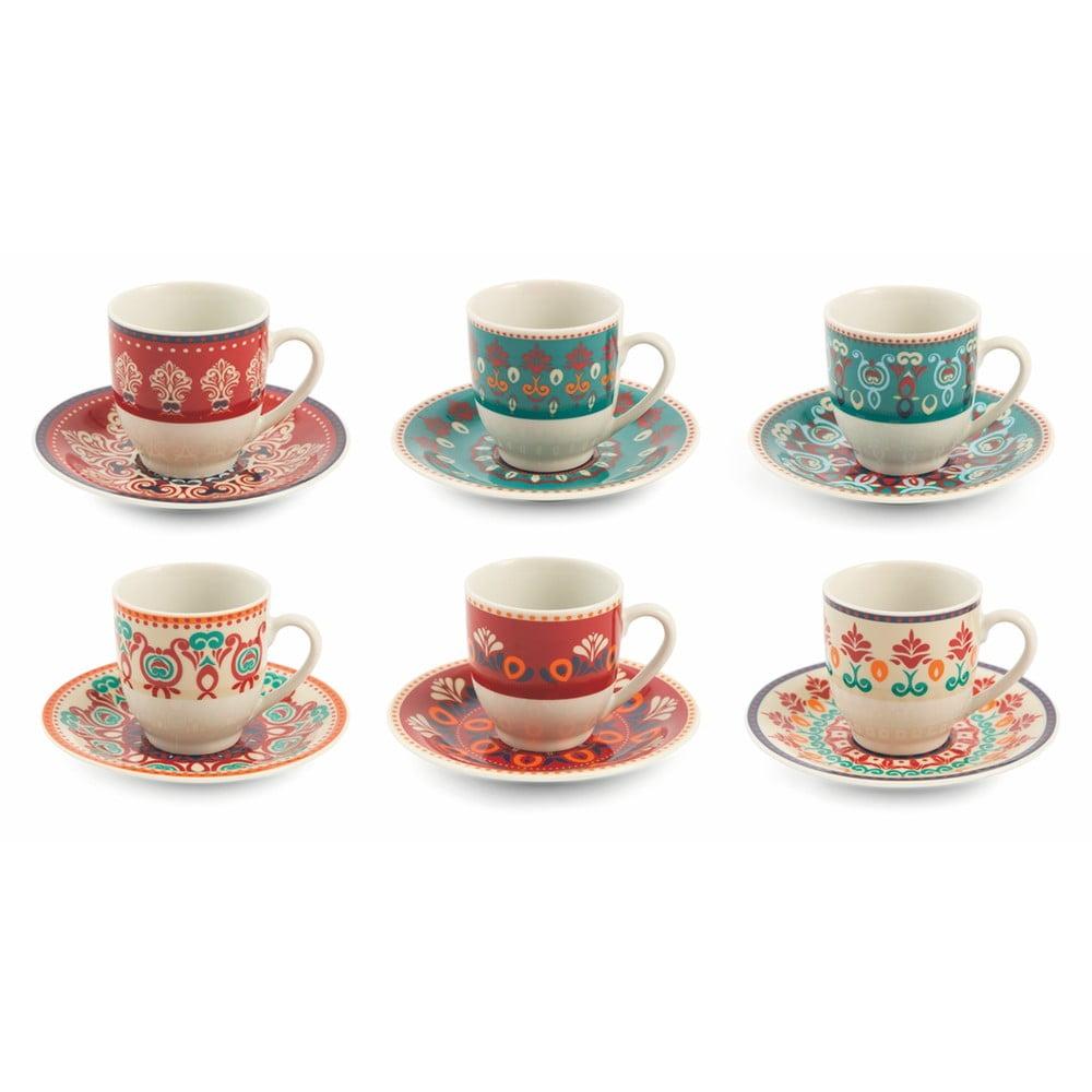 Sada 6 šálků na kávu s podšálky Villa d'Este Shiraz