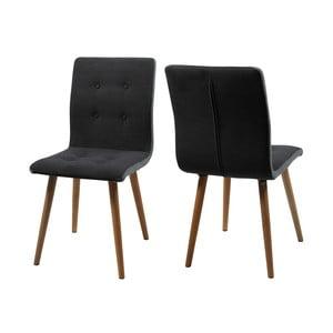 Set 2 scaune Actona Frida, gri închis