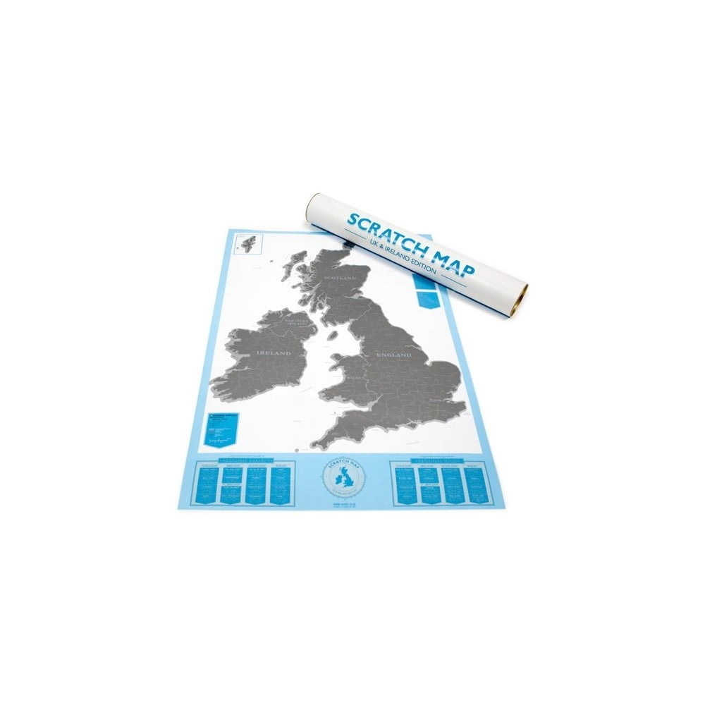 Seškrabávací mapa Luckies of London Britské ostrovy