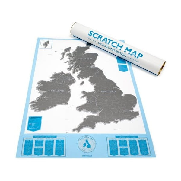 Mapa/zdrapka Luckies of London Britské ostrovy
