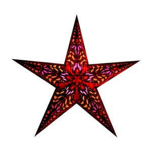 Dekorativní hvězda Mercury Red, 60 cm