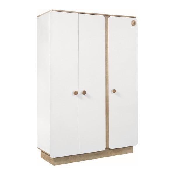 Nature Baby 3 Doors Wardrobe fehér ruhásszekrény