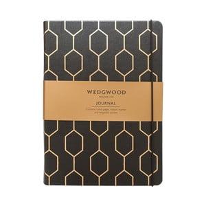 Černý zápisník A5 Portico Designs Wedgwood,150stránek
