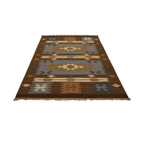 Ručně tkaný koberec Cold Brown Indians, 90x150 cm