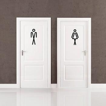 Autocolant Ambiance Bathroom Men Women 20 x 15 cm