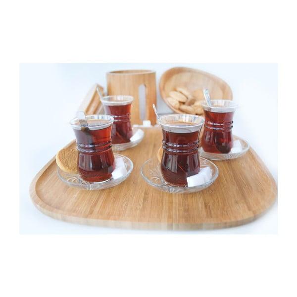 Bambusový čtvercový kávový tác Bambum Mocha