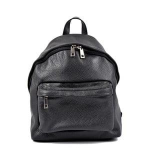 Černý kožený batoh Roberta M Kravna