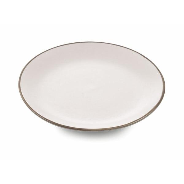 Sada 6 bílých talířů na ovoce z kameniny Villad'Este Kora