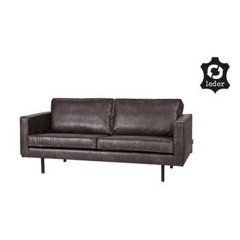 Canapea cu 2 locuri cu husă din piele reciclată De Eekhoorn Rodeo negru