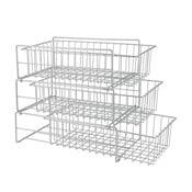 Přídavné třípatrové poličky do kuchyňské skříňky Metaltex Limpio