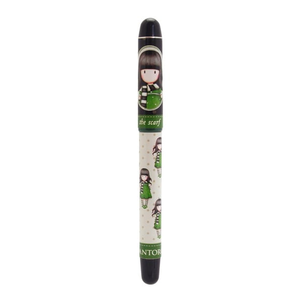 Zelené kuličkové pero s náplněmi Santoro London The Scarf