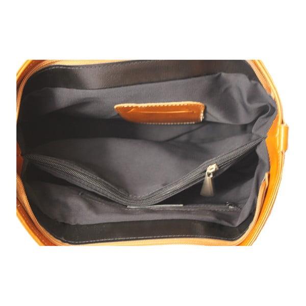 Hnědá kožená kabelka Gia