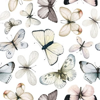 Set autocolante de perete Dekornik Butterflies, fluturi