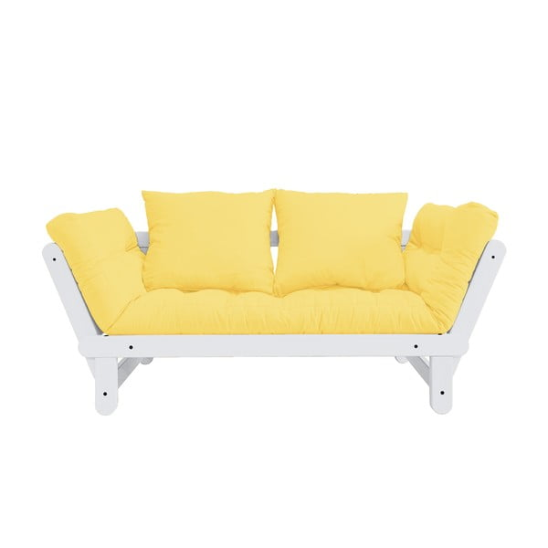 Canapea extensibilă Karup Design Beat White/Yellow