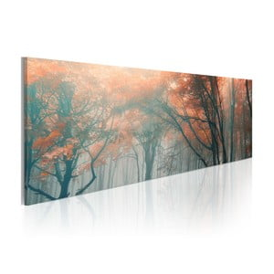 Obraz na plátně Artgeist Autumn Waterfall, 120x40cm