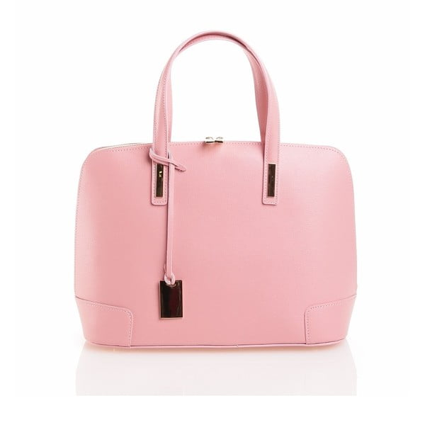Kožená kabelka Olga, růžová