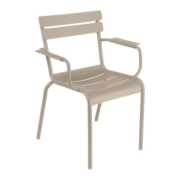 Béžová zahradní židle s područkami Fermob Luxembourg
