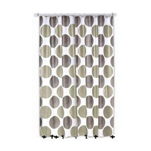 Sprchový závěs Lamara, šedý/béžový, 180x200 cm