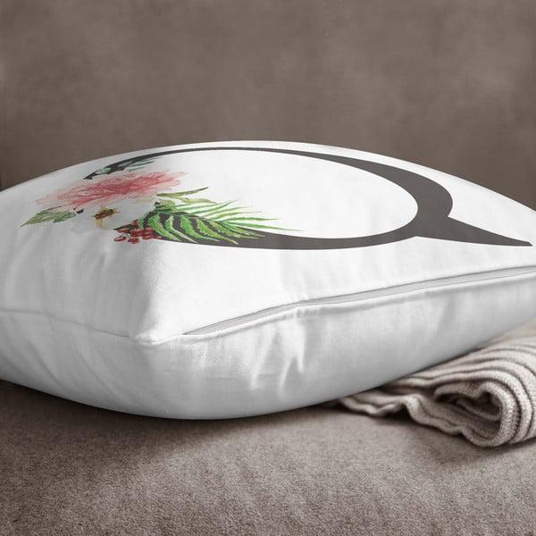 Față de pernă Minimalist Cushion Covers Floral Alphabet Q, 45 x 45 cm