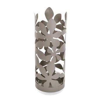 Suport metalic pentru umbrele Versa Flores, înălțime 49cm, gri