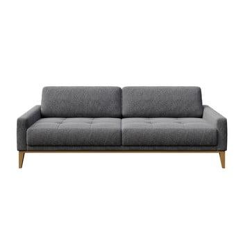 Canapea cu 3 locuri MESONICA Musso Tufted, cenușiu imagine