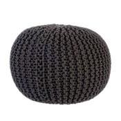 Puf Knitted Grey, 35x50 cm