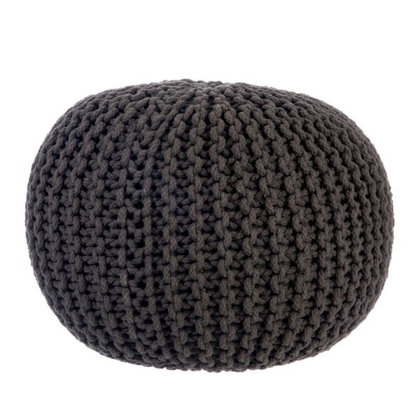 Puf Knitted Grey, 35x50 cm