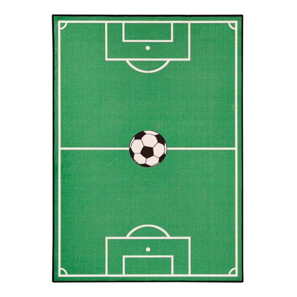 Dětský zelený koberec Zala Living Football, 200 x 290 cm