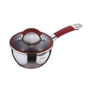 Rendlík se skleněnou pokličkou Saucepan Red, 1,4 l