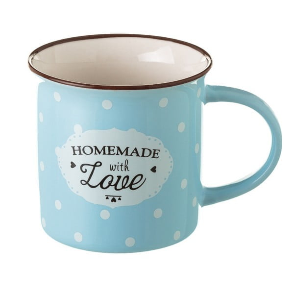Modrý porcelánový hrneček Unimasa Homemade, 230ml
