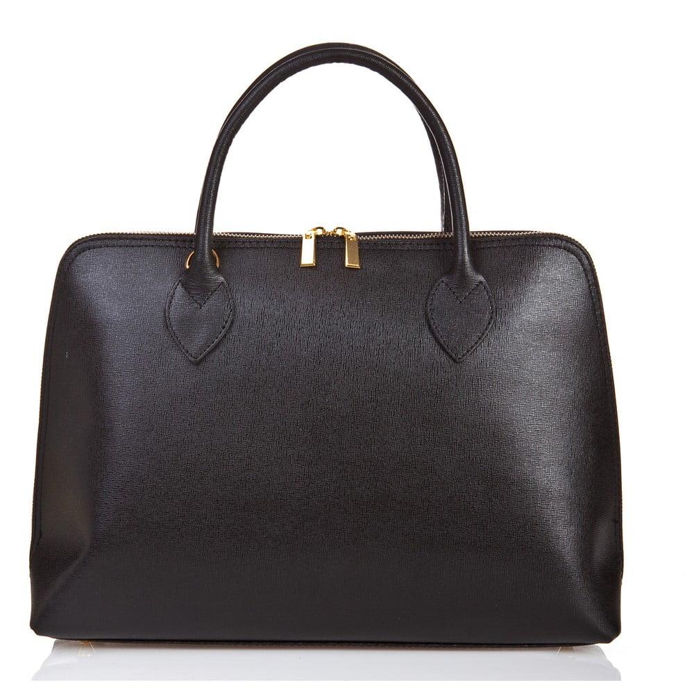 5b3e25dca4e Černá kožená kabelka Massimo Castelli Liana