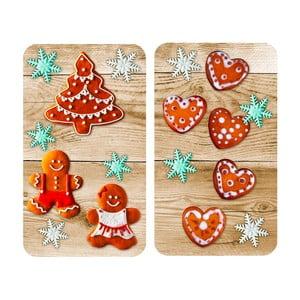 Skleněný kryt na sporák Wenko Gingerbread, 2 ks