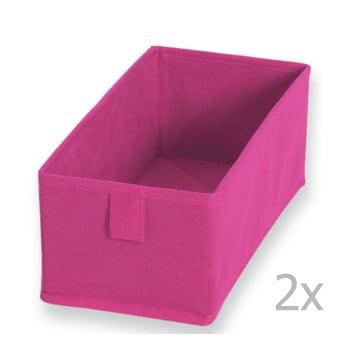 Set 2 cutii textile JOCCA , 28 x 13 cm, roz imagine