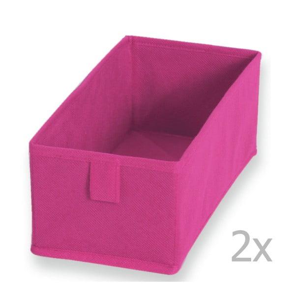 2 db rózsaszín textil tárolódoboz, 28 x 13 cm - JOCCA