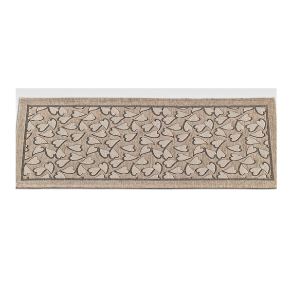 Béžový vysoce odolný kuchyňský koberec Webtappeti Corazon Tortora,55x190cm