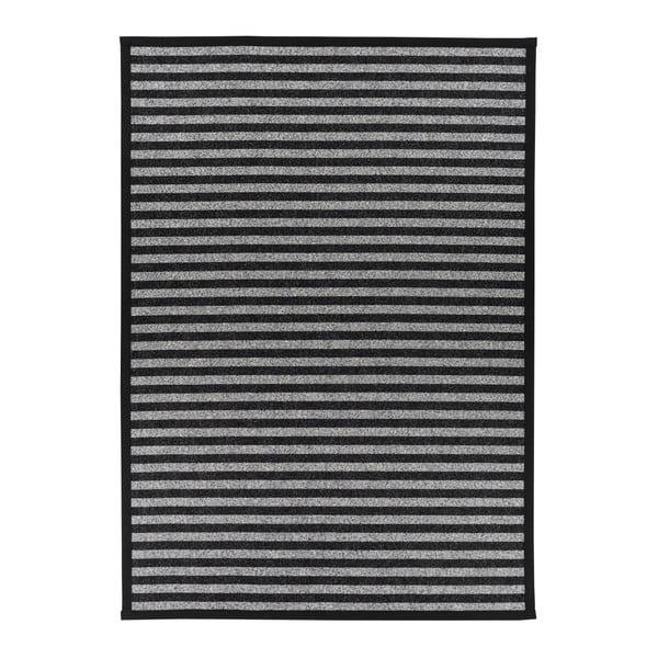 Covor reversibil Narma Viki, 70 x 140 cm, alb-negru